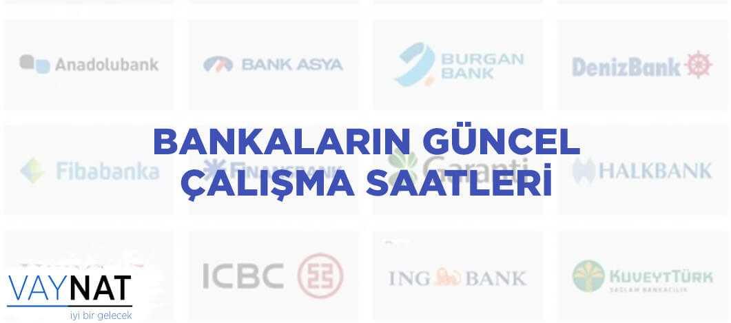 Bankaların Güncel Çalışma Saatleri