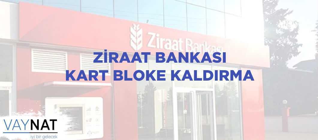 Ziraat Bankası Kart Bloke Kaldırma