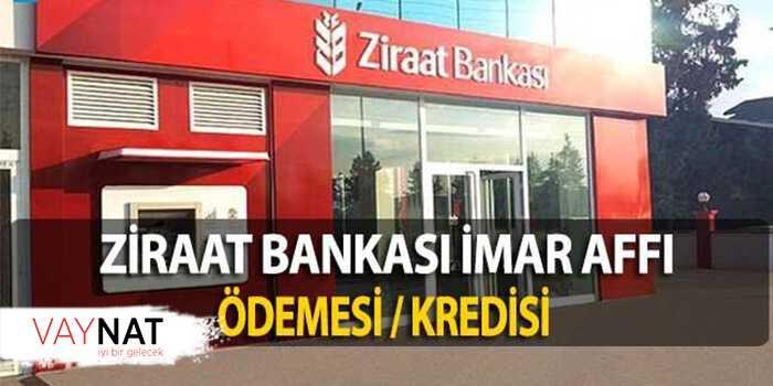 Ziraat Bankası İmar Barış Ödemesi