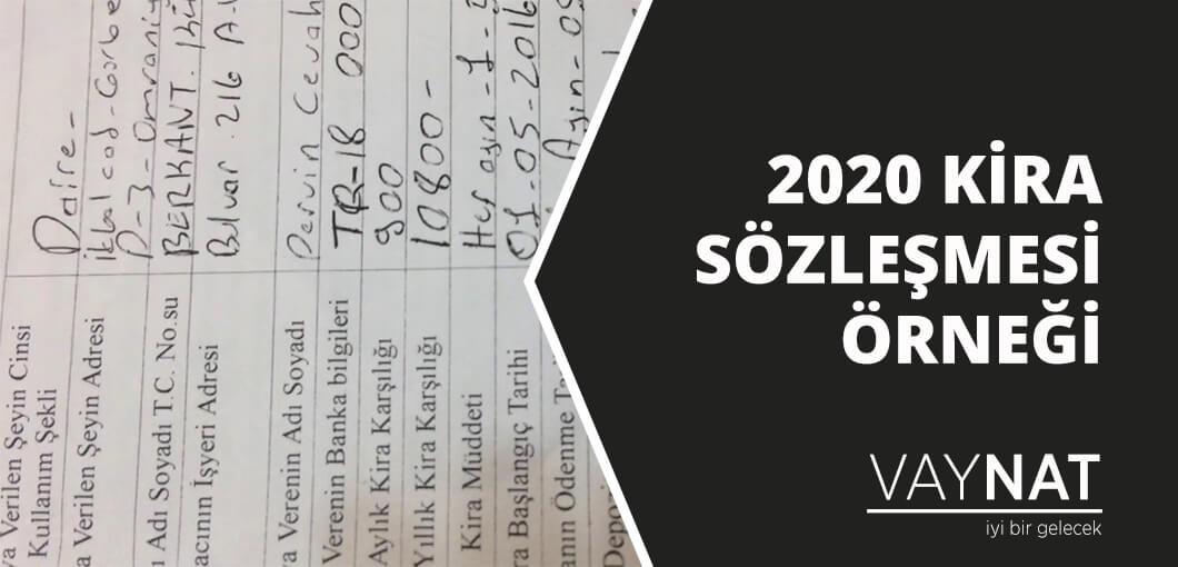 Kira Sözleşmesi Örneği ve Gerekli Tüm Bilgiler 2020
