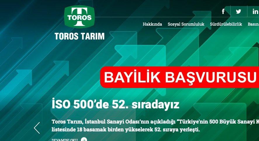 Photo of Toros Bayilik Başvurusu